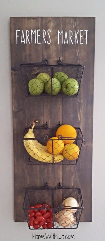 Step by step tutorial on how to make your own diy hanging fruit basket. HomeWith...