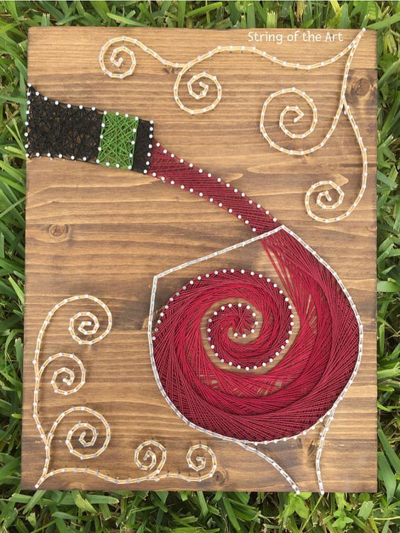 Craft Ideas For String Art