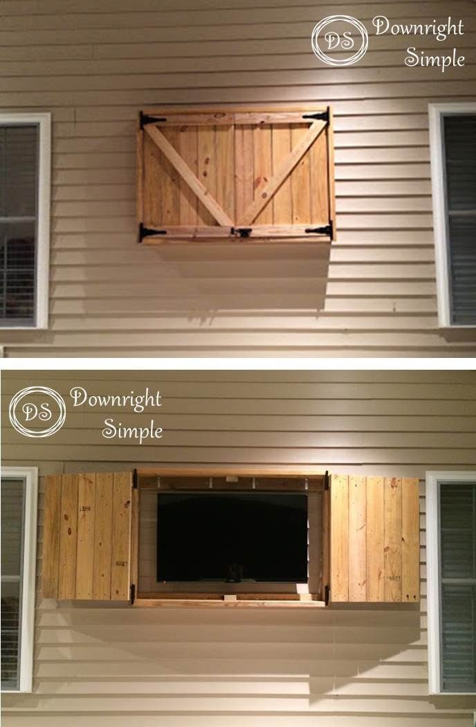 Super simple outdoor tv cabinet made for 50