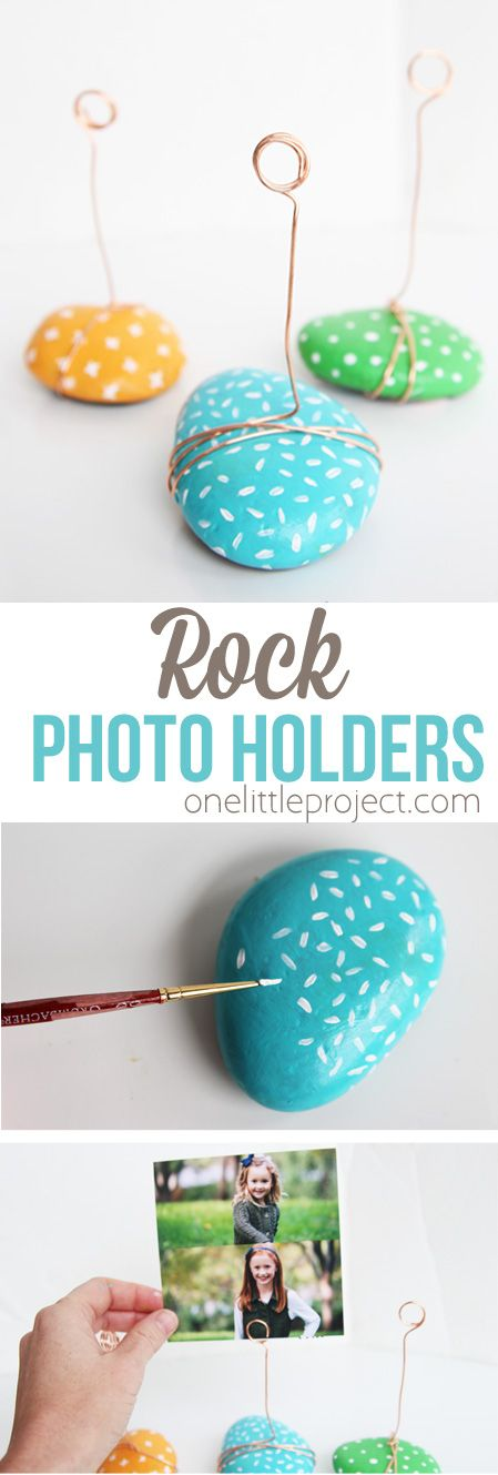 These ADORABLE photo holders take no time to make and are such a great kids craf...