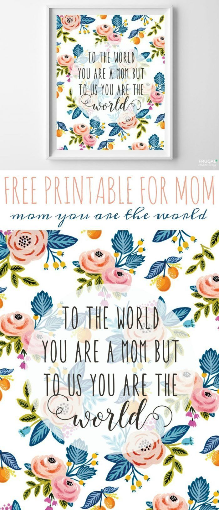 Diy Crafts This Is A Perfect And Free Mother S Day Gift Idea We
