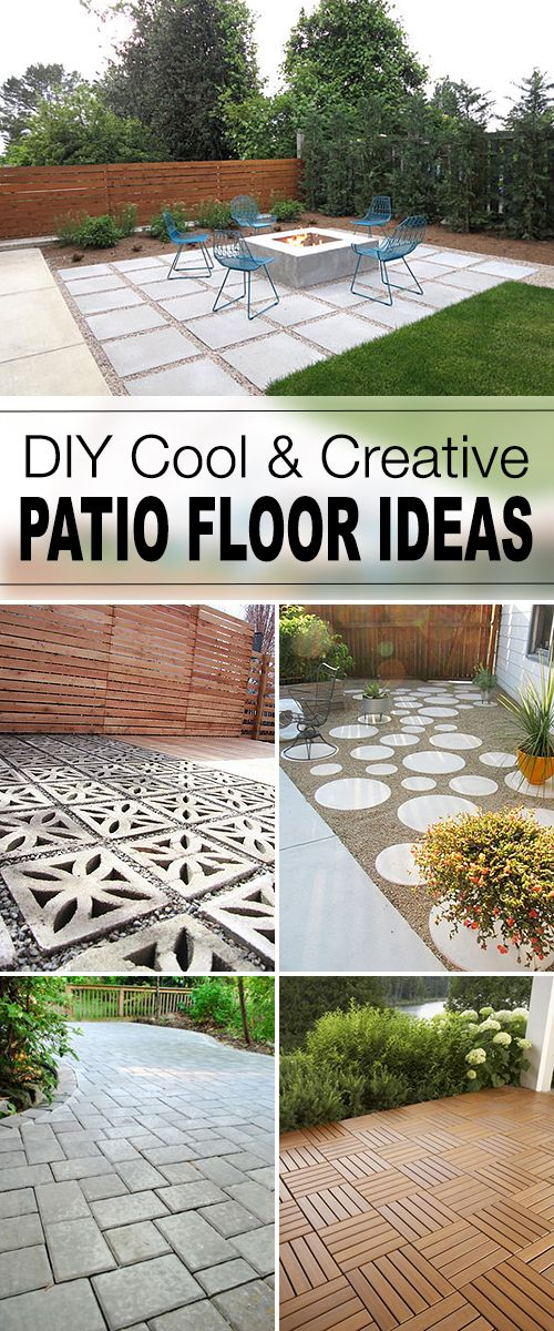 Tips and tutorials for great patio floors that you can do yourself! Brick, wood,...