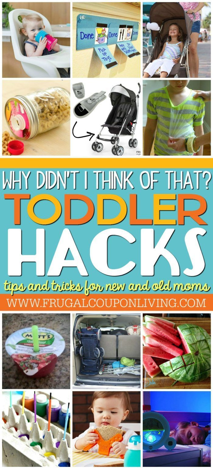 Toddler Tips and Tricks. Hacks for new and old moms on Frugal Coupon Living. Tod...