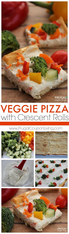 Veggie Pizza using Crescent Rolls. Easy Recipe. #pizza #pizzarecipe #coldpizzare...
