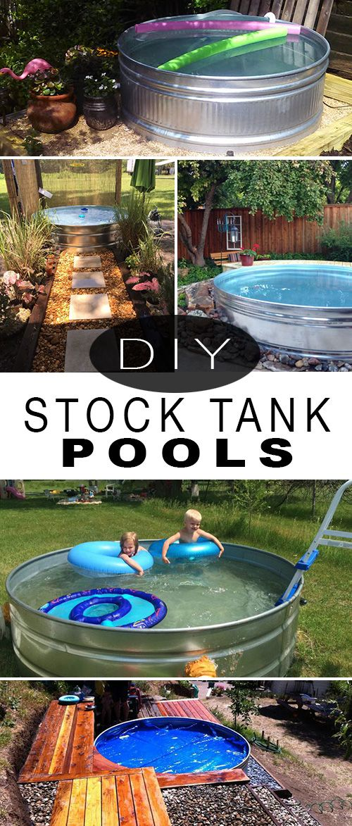 Wanna Stay Cool? DIY a Stock Tank Pool! • How to make a plunge pool from a sto...
