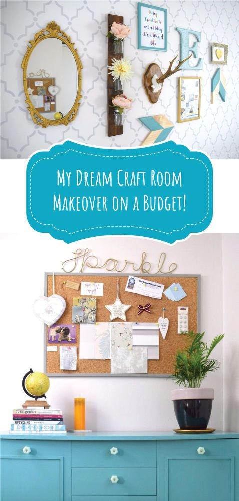 With a bit of paint and some glue, her craft room was good as new.