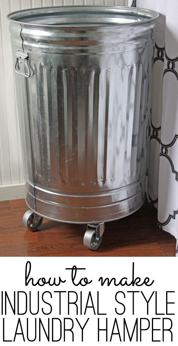 Make this DIY laundry hamper in about 15 minutes.