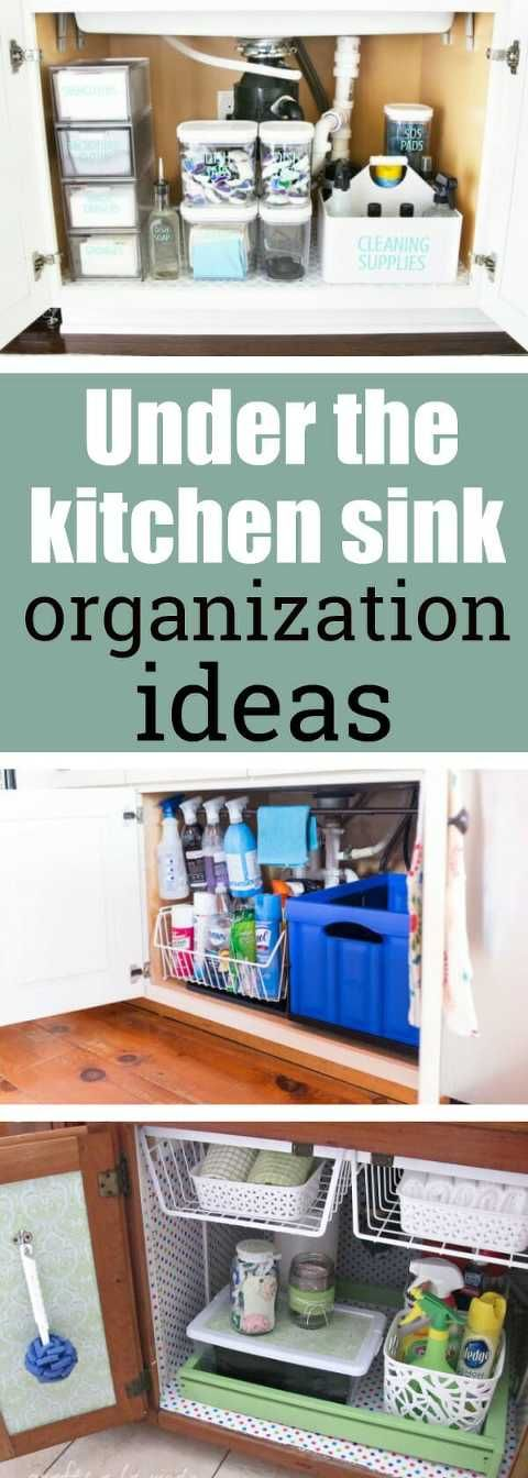 under the kitchen sink organization ideas