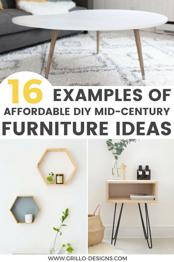 DIY Furniture : Affordable diy mid century furniture ideas for your ...