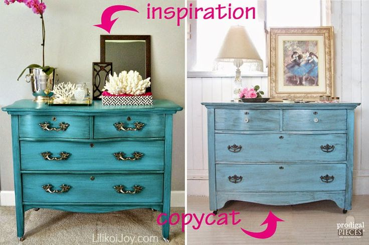 Antique Serpentine Dresser Gets Much Needed Makeover for Baby with Inspiration b...
