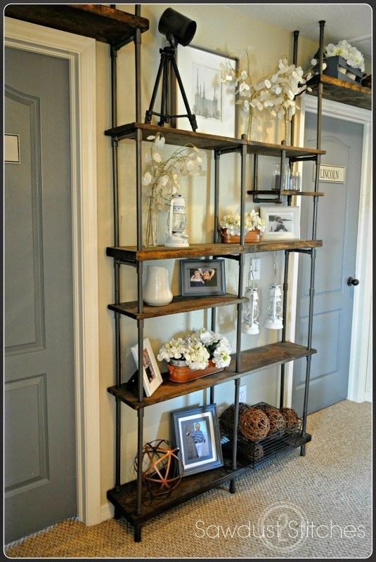 Build a CHEAP industrial-style shelf by using PVC instead of metal!  Get the tut...
