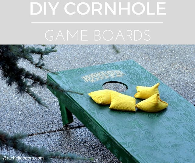 DIY cornhole game boards