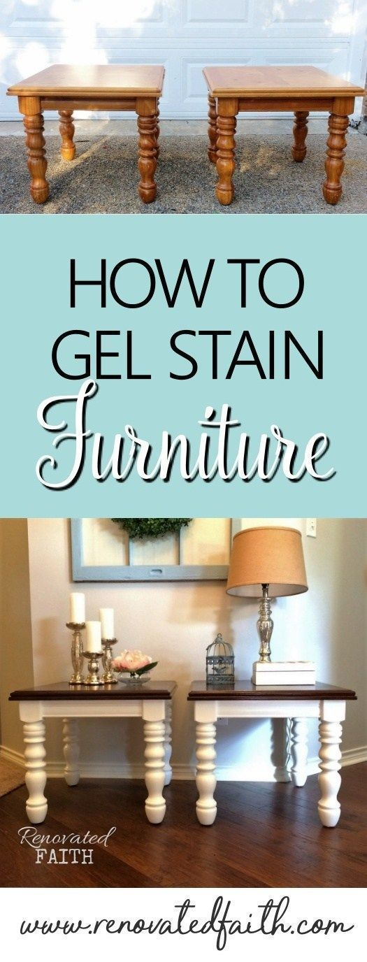 How To Gel Stain Wood - Why strip furniture pieces when you can easily use this ...
