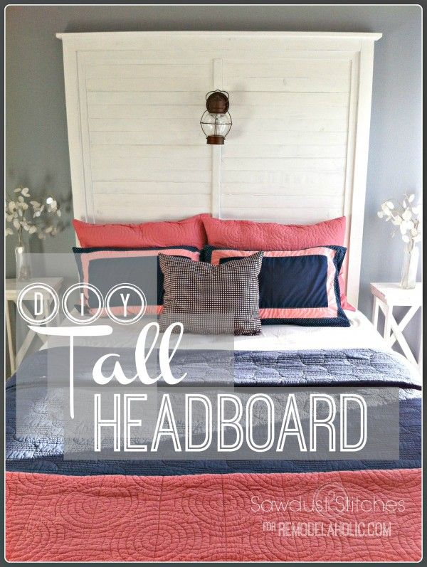 How to Build a Tall Slat Headboard | Sawdust2Stitches on Remodelaholic.com #diy ...