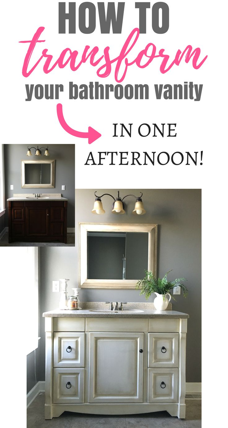 I absolutely love how my bathroom vanity turned out! I painted it in Annie Sloan...