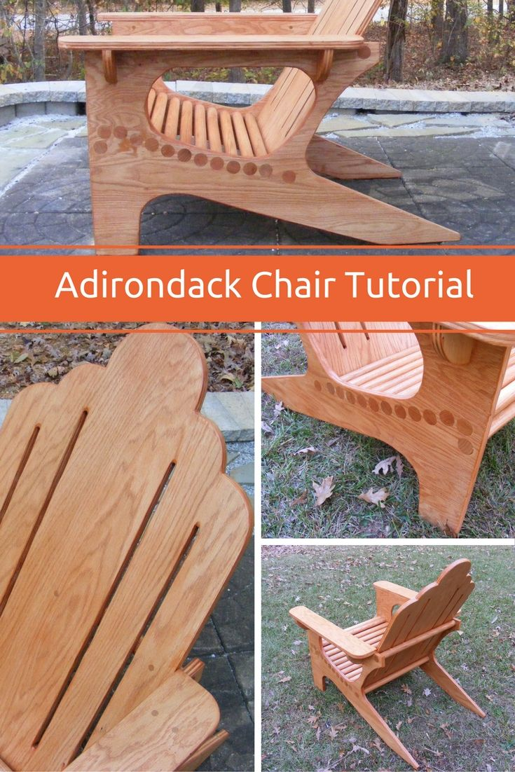 In this tutorial I show you step-by-step how I made this unique Adirondack Chair...