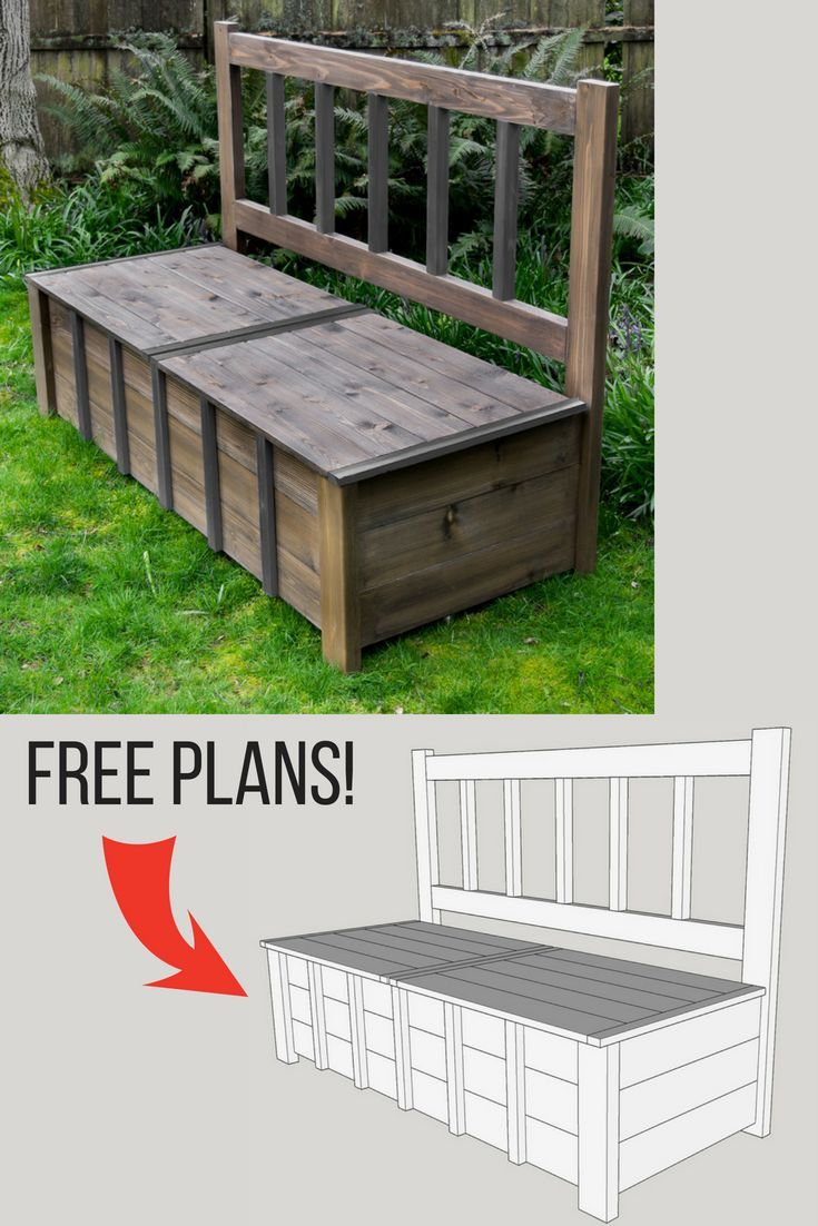 Keep Kids Toys Hidden Away In Plain Sight With This Outdoor Storage Bench!  Get T