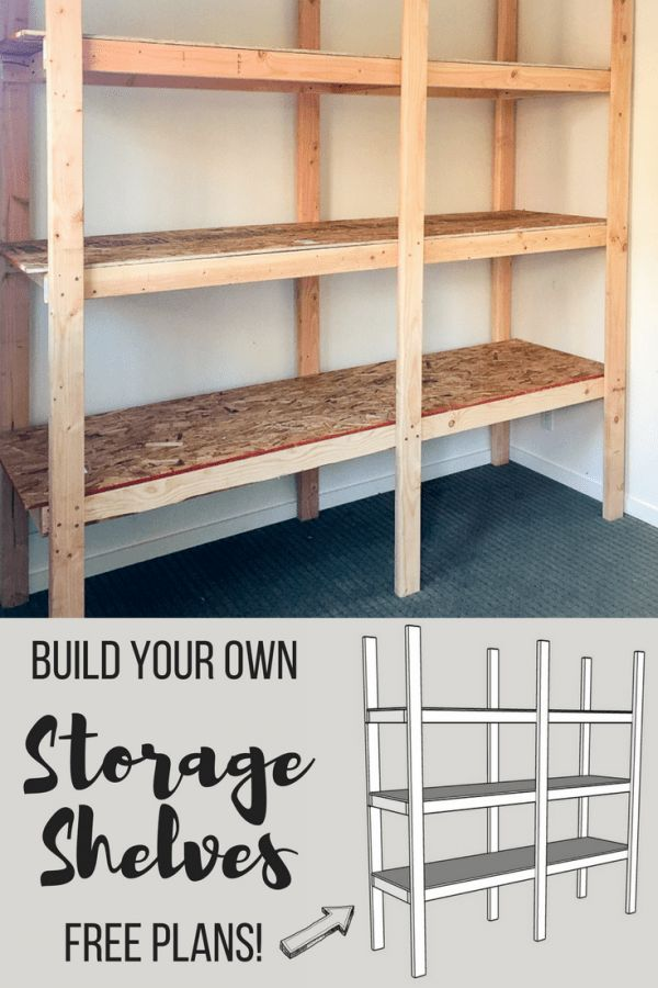 Learn how to build your own storage shelves with free woodworking plans from The...