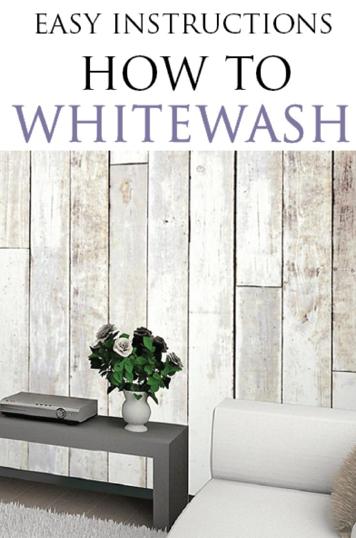 Learn how to whitewash furniture and wood projects correctly with this great tut...