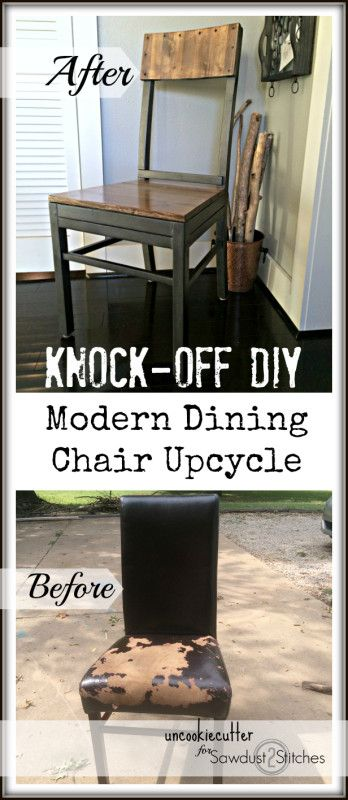 Modern Chair UpCycle - Sawdust 2 Stitches