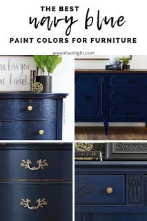 The best navy blue paint colors for flipping furniture for profit, or a furnitur...