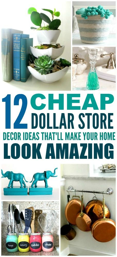 These 12 Dollar Store Decor Hacks are THE BEST! I'm so glad I found these GREAT ...