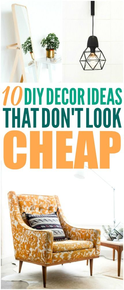 These DIY ideas are great! I'm glad I found these great budget decor ideas! Now ...