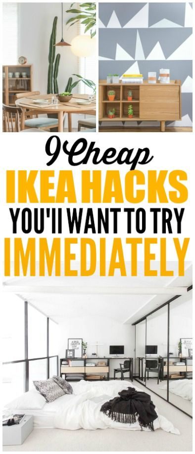 These Ikea hacks and Ikea decor ideas are really cool! I'm glad I found these am...