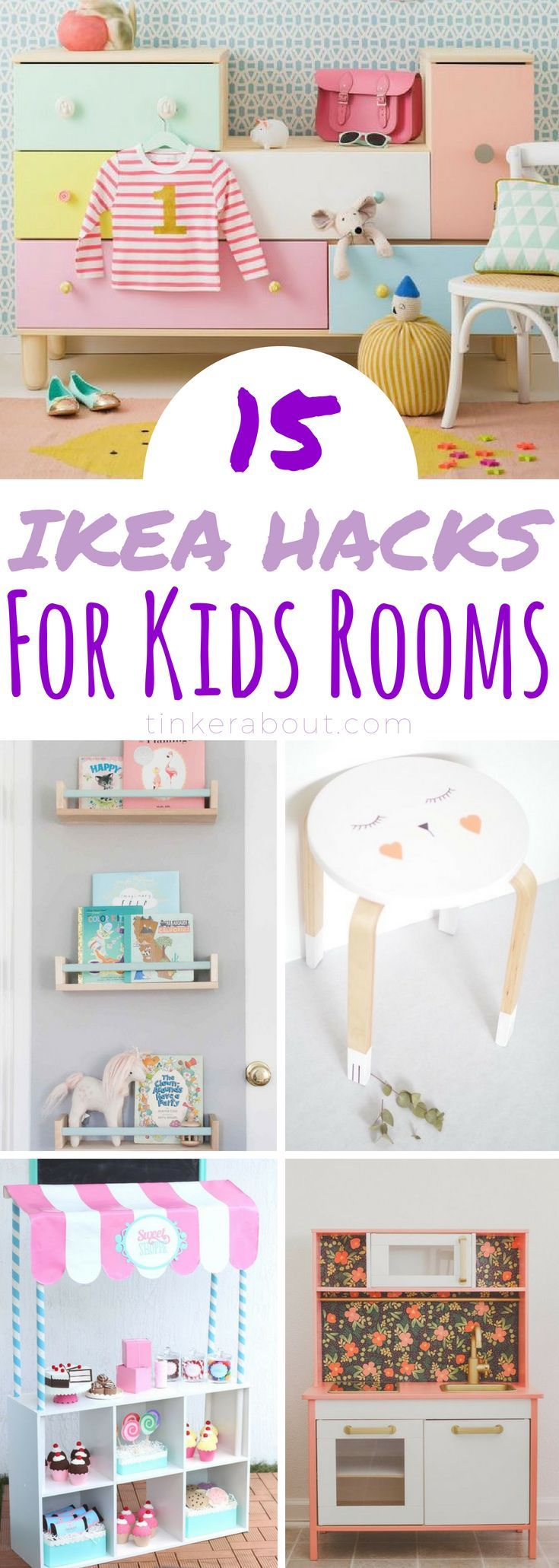 These adorable Ikea Hacks for Kids will update your child's bedroom in an instan...