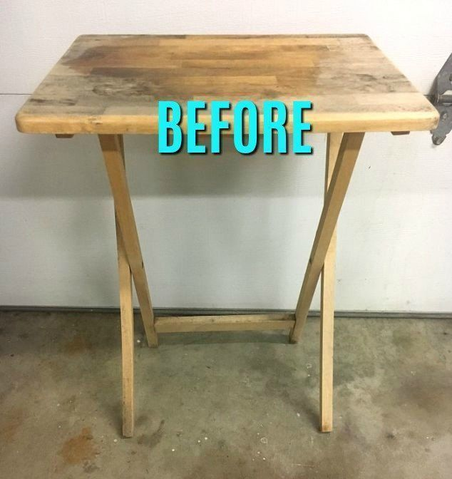 This is the coolest thing you'll see all day! Turn an old TV Table Into a Fun Pl...