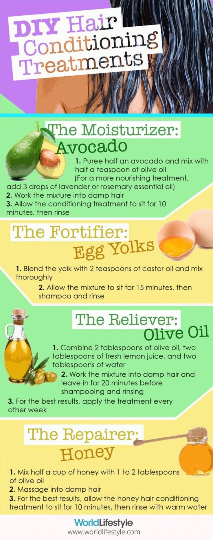 4 DIY All Natural Hair Treatments using ingredients that target common hair…