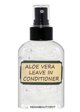 Aloe Vera Leave-in Spray Conditioner: 1 tbsp aloe vera gel 1/2 cup distilled wat...