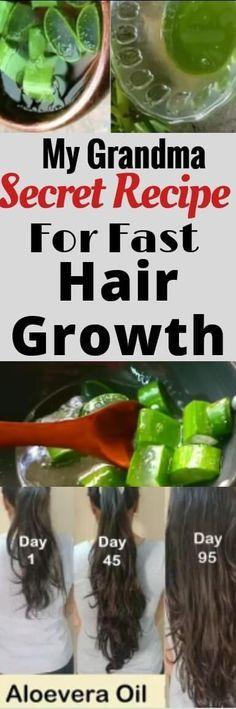 DIY Aloe Vera oil for fast hair growth. My grandma secret recipe for fast hair g...