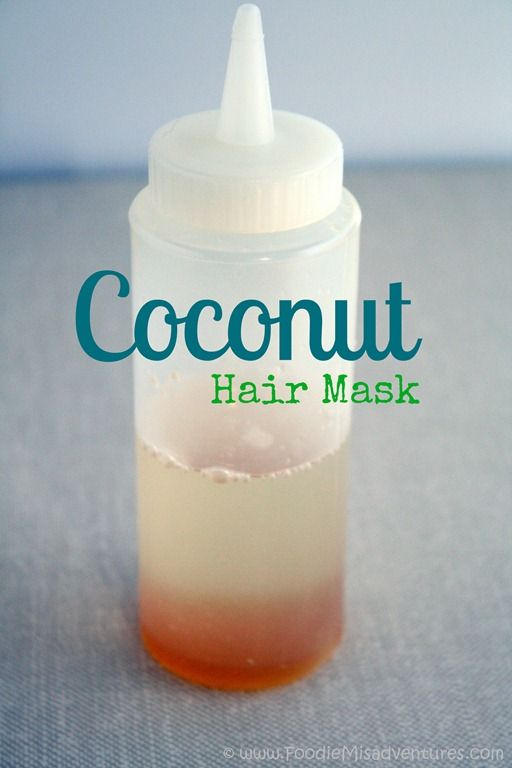 DIY Coconut Hot Oil Treatment . You start with just two ingredients – coconut ...