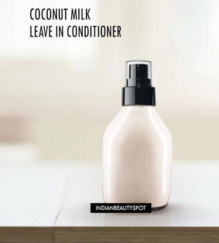 DIY Homemade Coconut Milk Leave in Spray on Conditioner for super shiny soft hai...