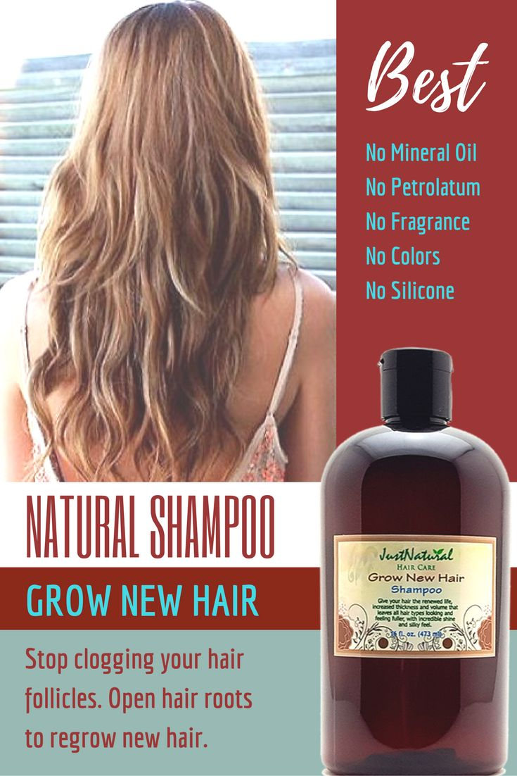 Grow New Hair Shampoo / Focus on your scalp and follicles for faster hair growth...