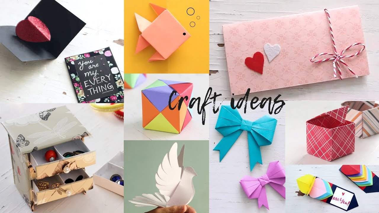 Diy Projects Video 10 Lovely Paper Crafts Diy Craft Ideas Art