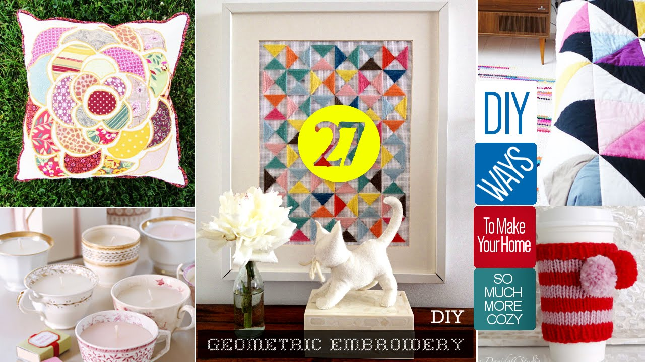 DIY Projects Video 27 Cute Home Decor Crafts