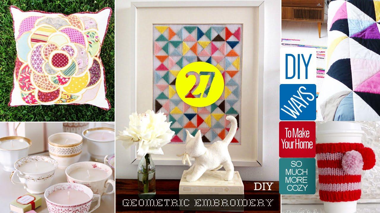 Diy Projects Video 27 Cute Diy Home Decor Crafts Diyall