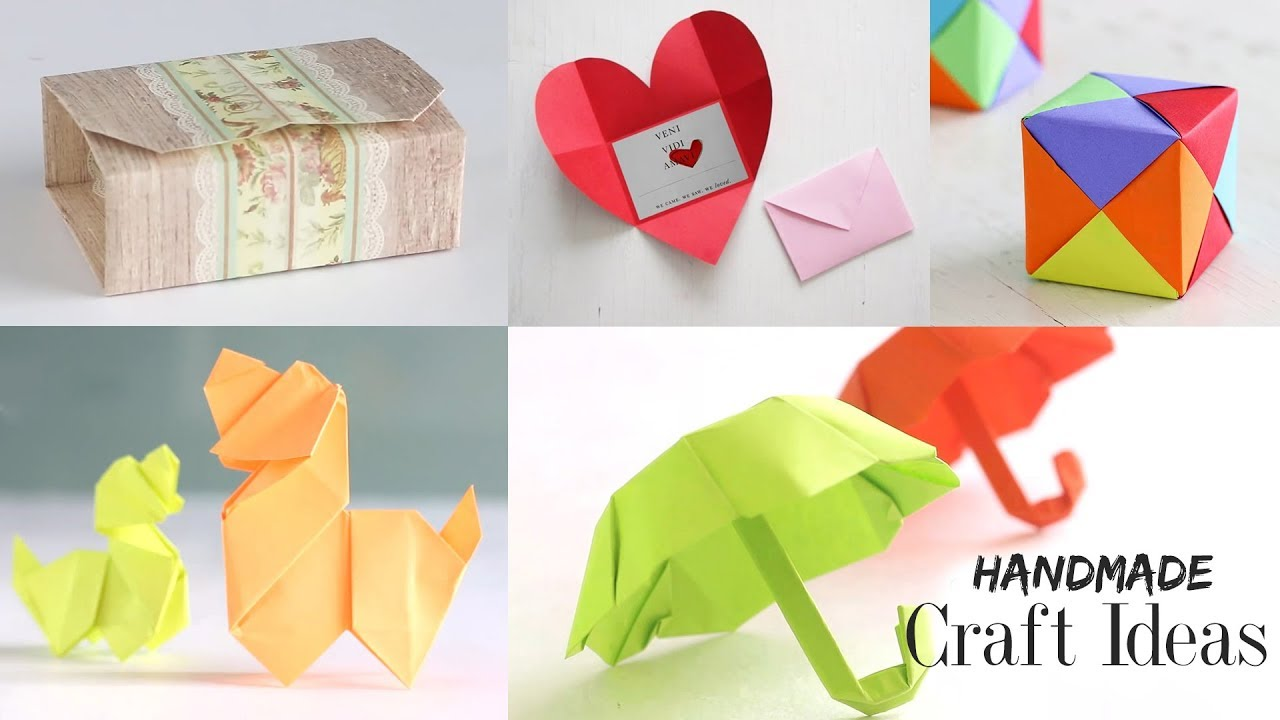 Diy projects video 5 handmade craft ideas paper craft tutorial diy projects video 5 handmade craft ideas paper craft tutorial do it yourself diyall home of diy craft ideas inspiration diy projects solutioingenieria Gallery