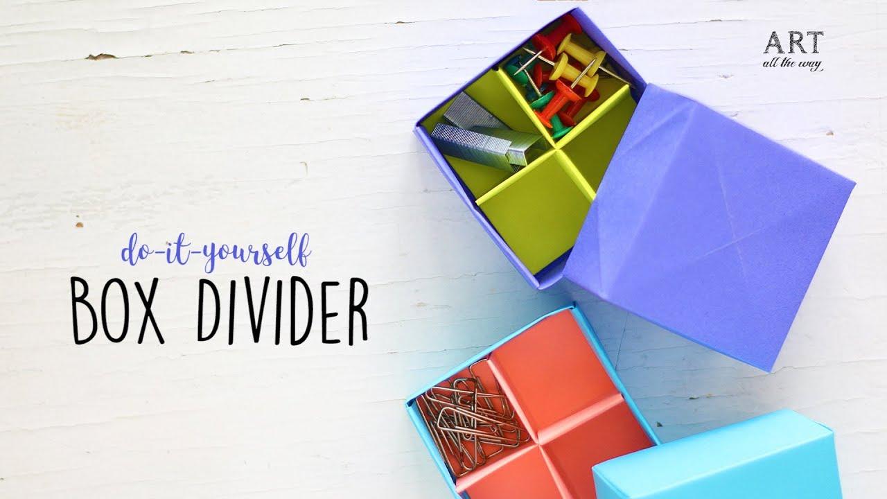 Diy Projects Video Diy Origami Box Divider Paper Box Craft