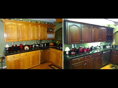Diy Projects Video How To Do It Yourself Kitchen Cabinet Color Change No Stripping And Cheap Refinishing Diyall Net Home Of Diy Craft Ideas Inspiration Diy Projects Craft Ideas