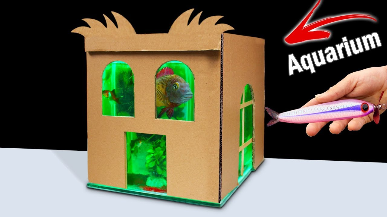 Diy projects video how to make aquarium from cardboard at home do diy projects video how to make aquarium from cardboard at home do it yourself diy diyall home of diy craft ideas inspiration diy projects solutioingenieria Image collections