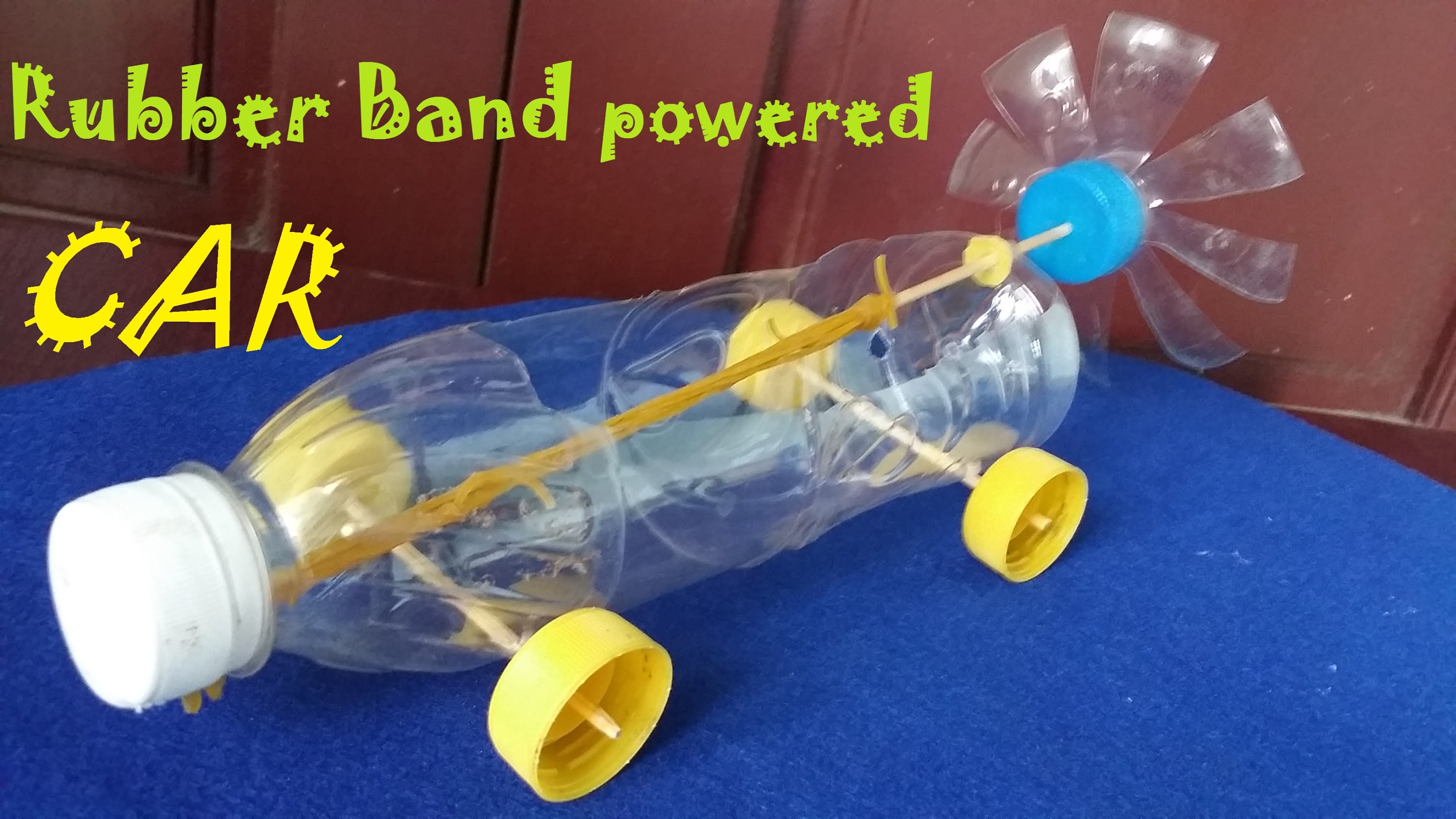 Diy Projects Video How To Make A Rubber Band Powered Car