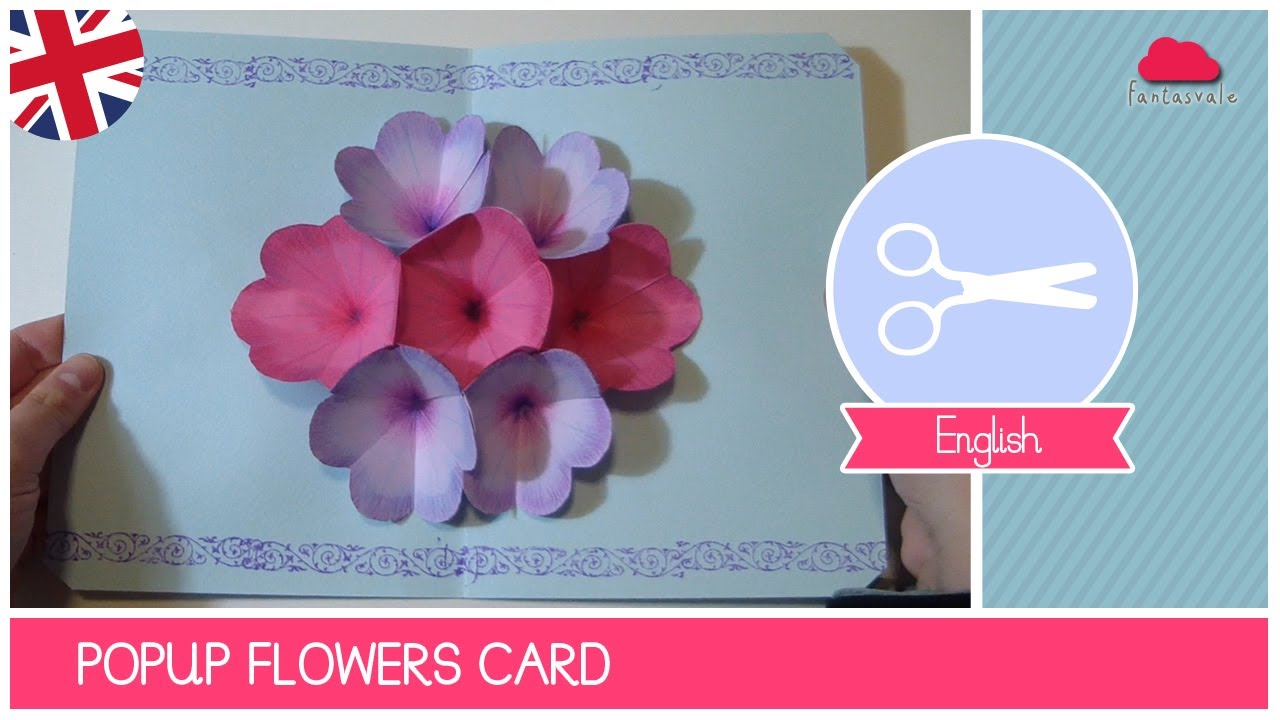 Pop Up Card Flower Mothers Day Crafts Tutorial Pop Up Card Mother S