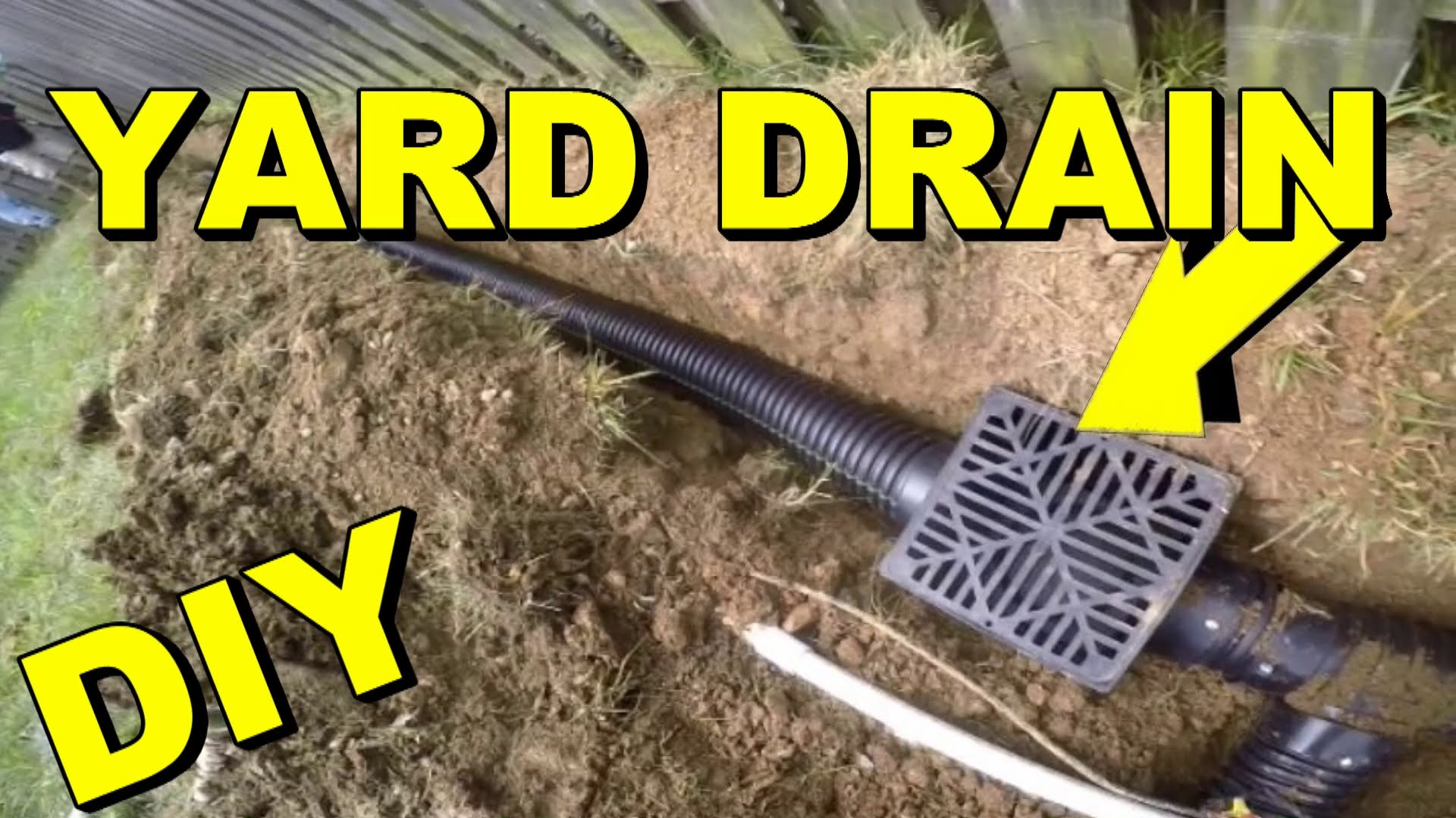 Diy Projects Video Yard Drain French Drain Do It Yourself