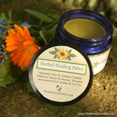 ❤ How To Make An All-Natural Herbal Healing Salve ❤