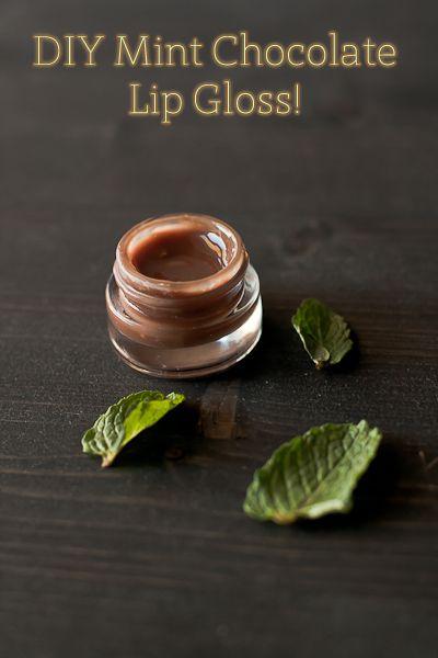 DIY lip gloss mint chocolate