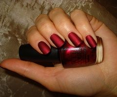 OPI - Matte Silk Red - perfect for the holidays!