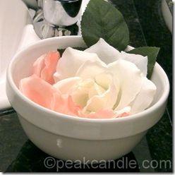Single-use petal soap.